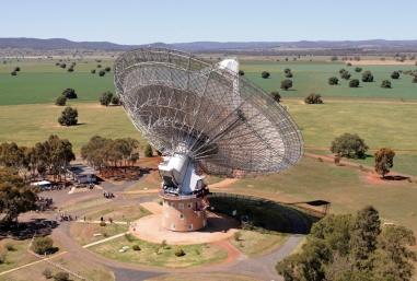 The Parkes Radio Telescope from the air Credit: Shaun Amy, CSIRO