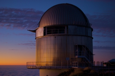 The Nordic Optical Telescope. Photo credit: NOT, Thomas Mellergaard Amby.